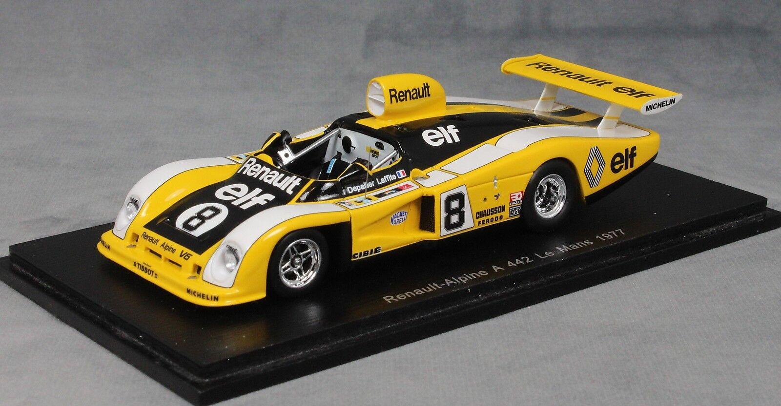 Spark Renault Alpine A442 Le Mans 1977 Depailler & Laffite S1554 1 43 NEW