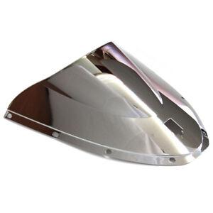 Windshield-Silver-Wind-Screen-Double-bubble-For-2005-2006-Ducati-749-999-Biposto