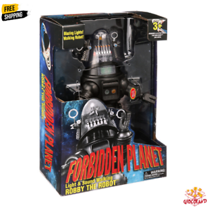 Forbidden Planet Robby The Robot Walking Toy Talking And Light Up 15 Inch Figure