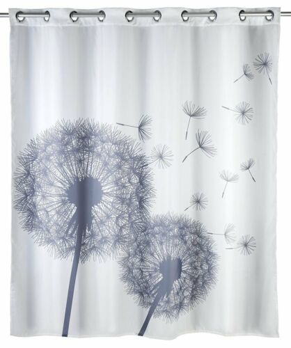Wenko Shower Curtains Anti-Mould Size 180 x 200 cmExtra Long DropFlex Fit