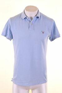GANT-Mens-Polo-Shirt-Medium-Blue-Cotton-Loose-Fit-GC05