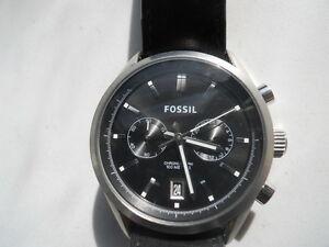 Fossil Herren Chronograph Schwarz Lederband Analog & Wasserdicht Watch.ch-2972 KöStlich Im Geschmack Armband- & Taschenuhren Armbanduhren