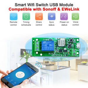 Details about eWeLink USB DC5V Wifi Switch Wireless Relay Module Smart Home  App Remote Control