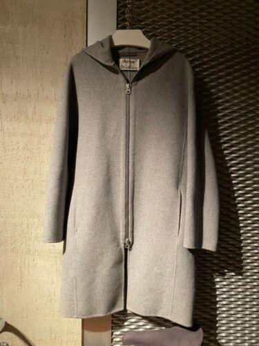Acne Studios Amile Hooded zip coat