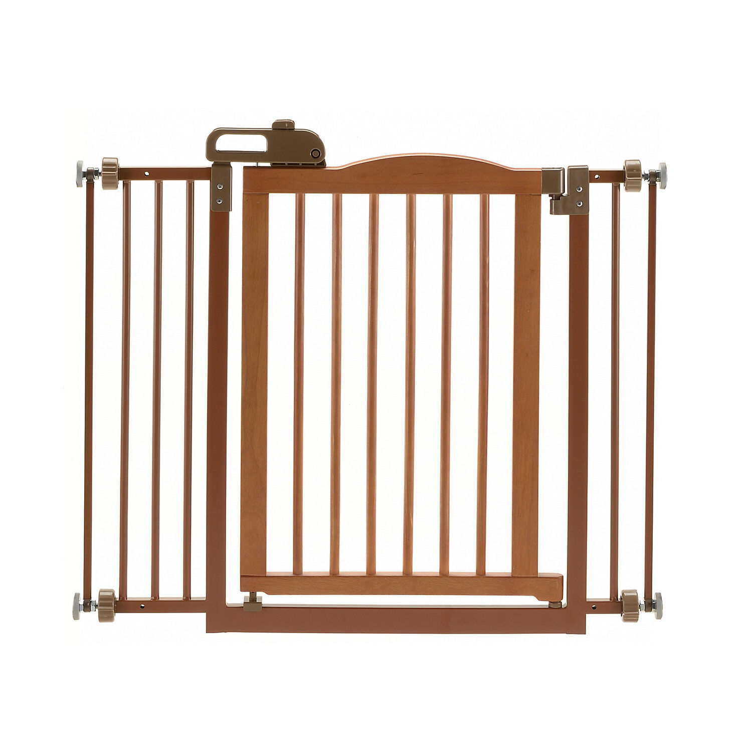 Richell OneTouch Brown Pet Gate II, 36.4 x 30.5 x 2