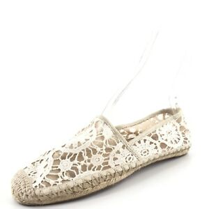 da006f45c55 Image is loading Halogen-Sabine-White-Lace-Floral-Espadrille-Flats-Women-