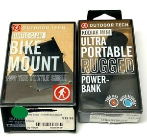 $50 Outdoor Tech Turtle Claw Bike Mount /& Kodiak Rugged Mini Charger Power Bank