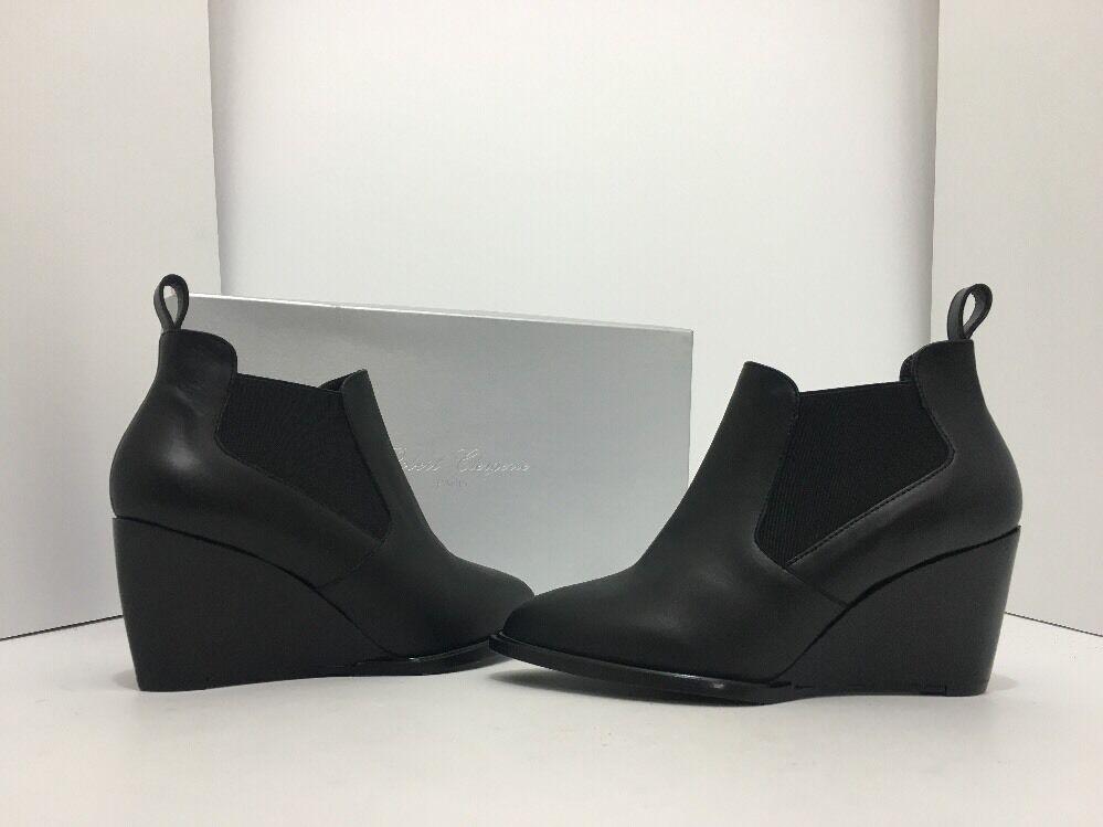 negozio all'ingrosso Robert Clergerie Clergerie Clergerie Olav Donna  Wedge High Heels Ankle stivali nero Leather US 4.5  Negozio 2018