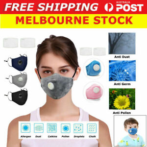 Washable Reusable Adult Kids Anti Air Pollution Face Mask Respirator 10 Filters*