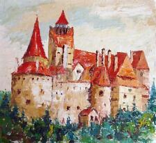 Dracula's Castle Bran Transylvania Vampire 5x5 Inch Print Boris Savluc