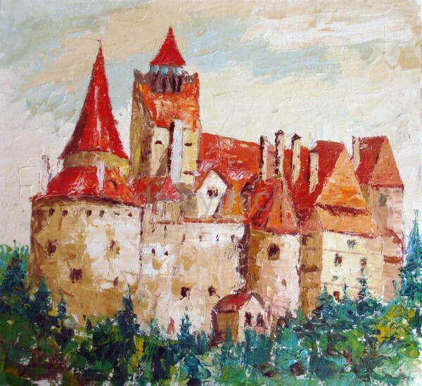 Adroit Dracula's Castle Bran Transylvanie Vampire 5x5 Pouces Imprimer Boris Savluc
