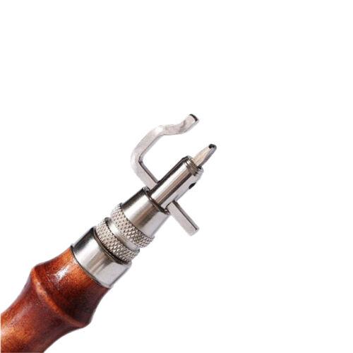 7 in 1 Mehrzweck Lederhandwerk Werkzeug Nähen /& Knicken Leder Rand Beveler ZP