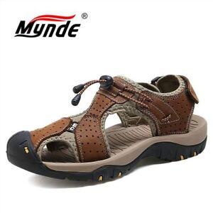 Buenos precios brillo encantador más popular Details about Sandalias de Cuero para Hombre Sandalia de Hombre Cuero Piel  Playa Verano Moda