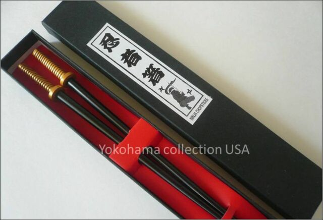 Japanese Samurai Ninja Sword Chopsticks W/Box/ CSA1-G