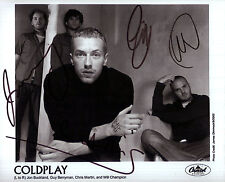Coldplay Autograph Signed Photo Reprint 8x10 Martin Buckland Berryman Champion