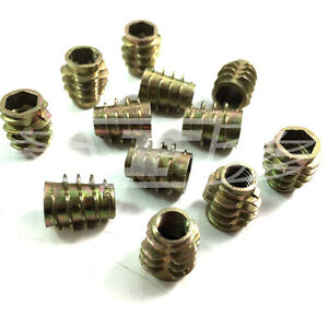 Details about M6 x 13mm HEX DRIVE SCREW IN THREADED INSERT FOR WOOD (Type E)