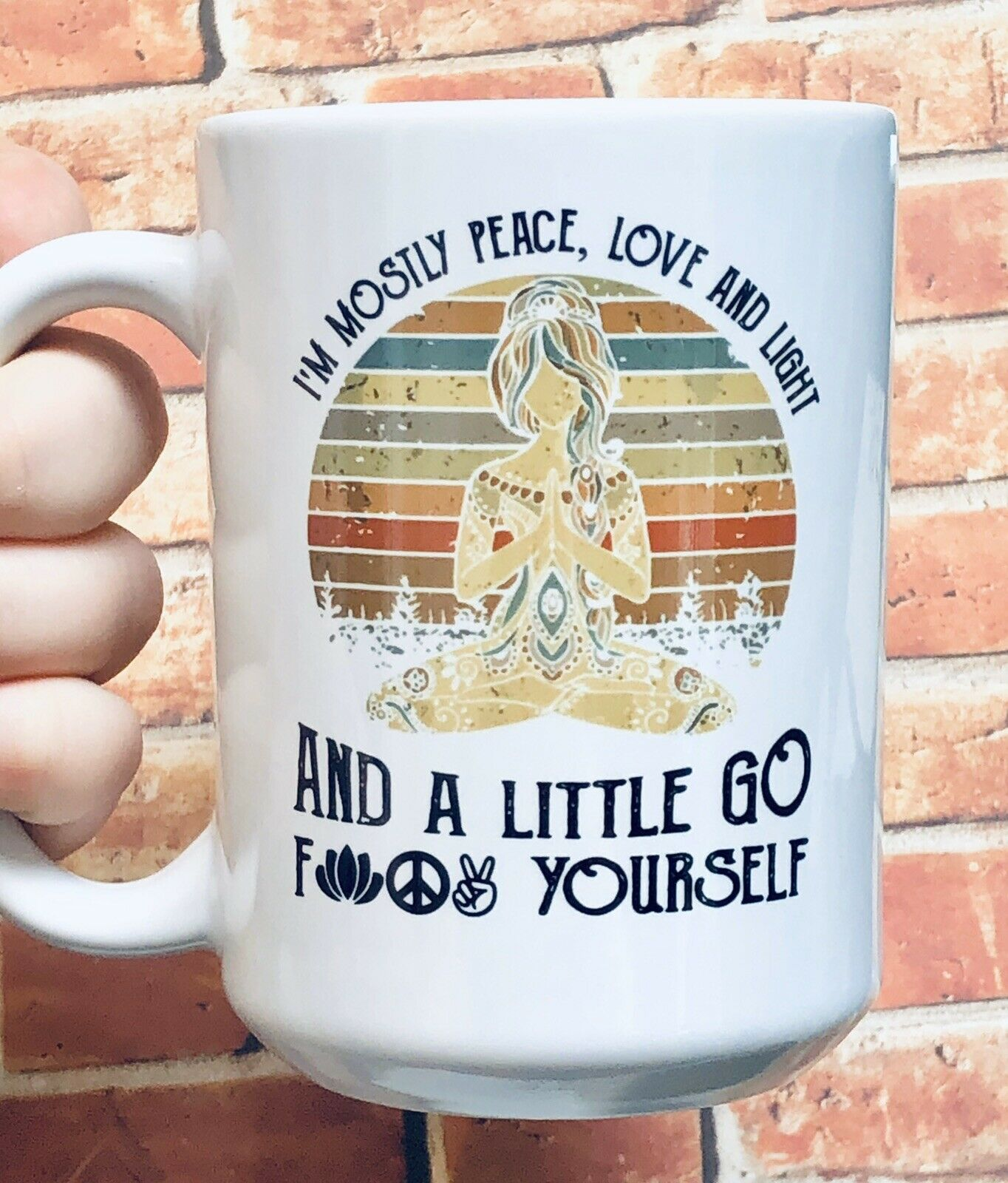 Sloth cute funny whatever bitches large 15 ounce funny coffee cup mug yoga zen