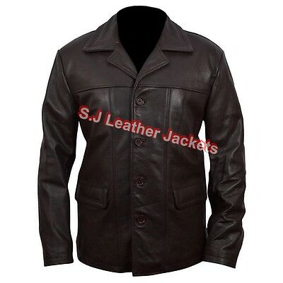 Men's Fashion Sutherland Real Leather Bauer High Quality Brown Jacket
