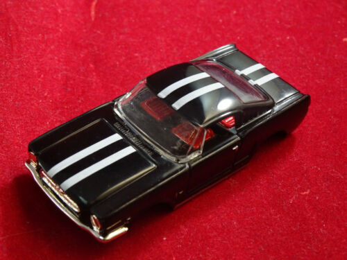 MoDEL MoToRING Black Fastback Mustang T-jet HO Scale Slot Car Body Aurora RRR