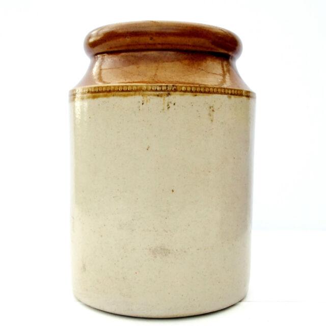 Vintage Stoneware Kitchen Jar Pot Utensils Holder