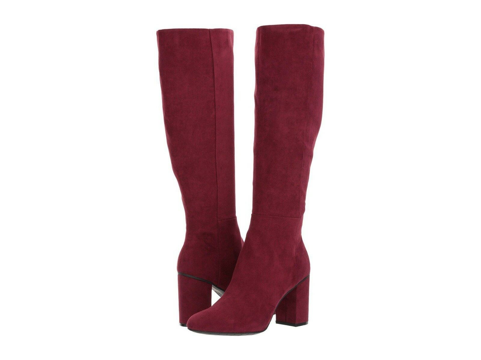 Womens Kenneth Cole Reaction Boots Time To Step Tall Knee High Burgundy Zip 9