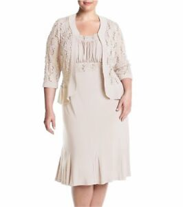 1b365b3ff6f1 RM Richards Womens Plus Size Ruffled Trim Lace Jacket Mother of the ...