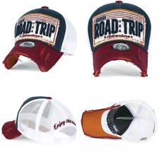 69538f5f ililily ROAD TRIP Vintage Distressed Snapback Trucker Hat Baseball Cap ,  Navy