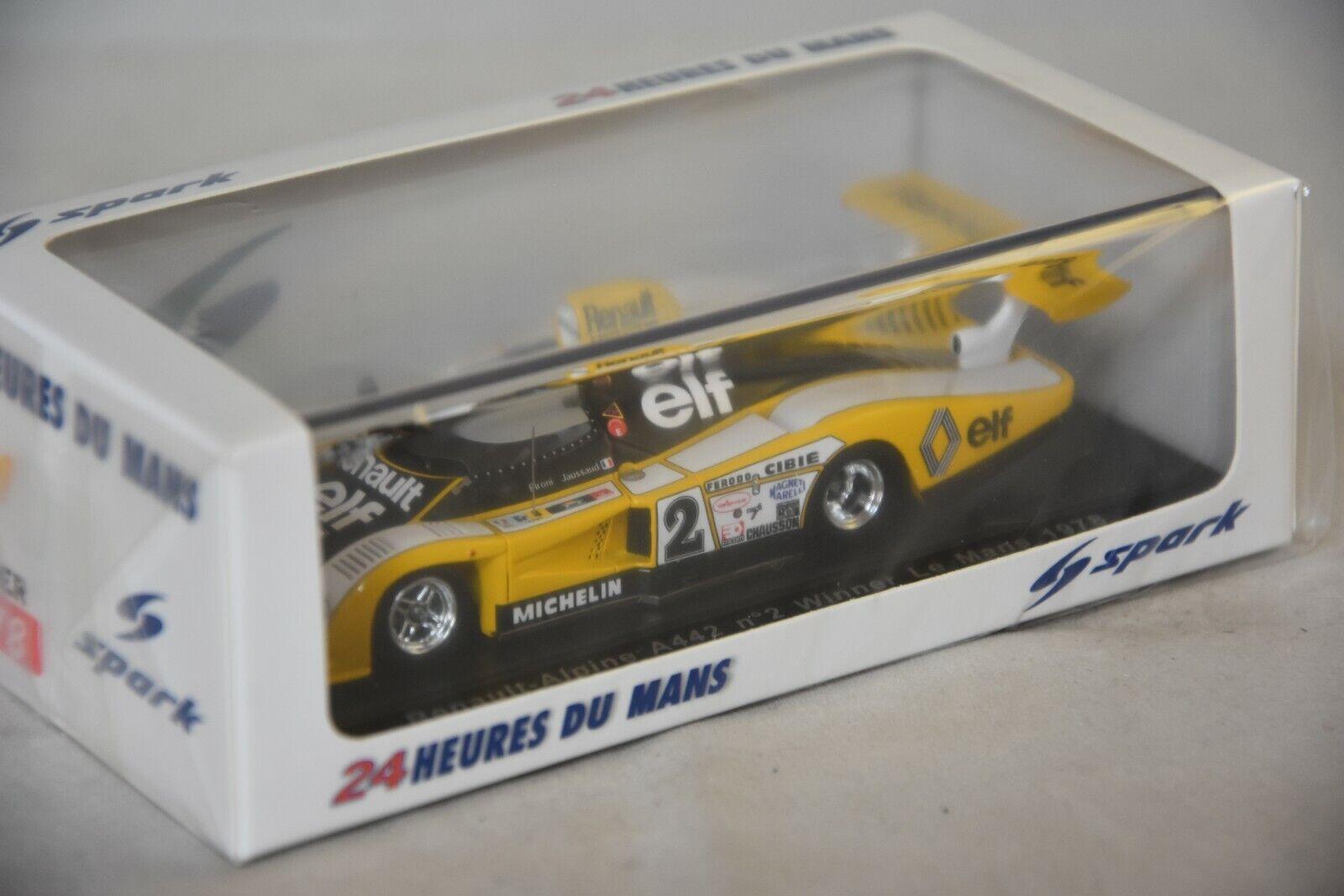 Spark 43lm78 - RENAULT ALPINE A442 n°2 Vainqueur 24H Le Mans 1978 Pironi 1 43