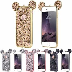Luxury-Bling-Soft-TPU-Protective-Cute-Case-Mickey-Ear-For-iPhone-Samsung-Phones