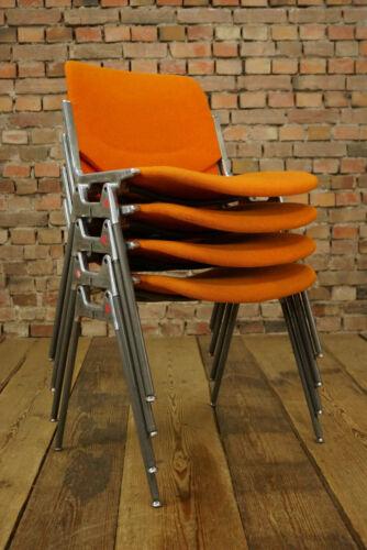 60er Vintage Castelli Esszimmer Stuhl Dsc106 Dining Chair Piretti orange 70s 1//8