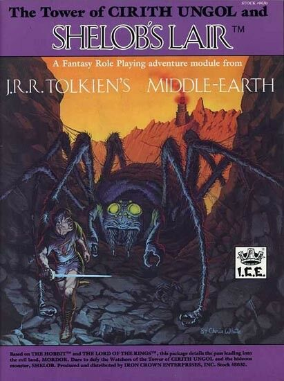 THE TOWER OF CIRITH UNGOL SHELOB'S LAIR EXC+  MERP Middle-Earth Module Tolkien
