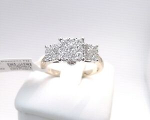 7500-1CTTW-CT-3-Stone-REAL-GENUINE-Diamond-Ring-Engagement-SOLID-14K-GOLD