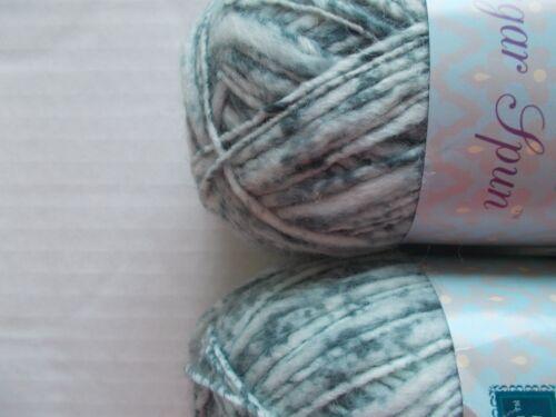 114 yds ea lot of 2 Sundance Sugar Spun wool blend baby yarn Black Licorice