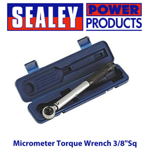 Sealey AK623 Micrometer Torque Wrench 3//8Sq Drive Calibrated