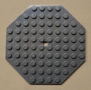 x9 NEW Lego Baseplate Modified 10 x 10 Octagonal w// Hole TAN