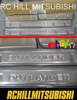 4PCS Car Door Sill Scuff Plate Guards Trim For Mitsubishi Outlander 2007-2012