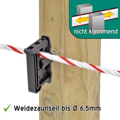 500 Klipp Isolator Breitbandisolator Maxi Tape Weidezaun Seil Litze Breitband