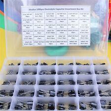 36 Value Electrolytic Capacitor Assortment Box Kit 1000 Pcs 01uf1000uf 105