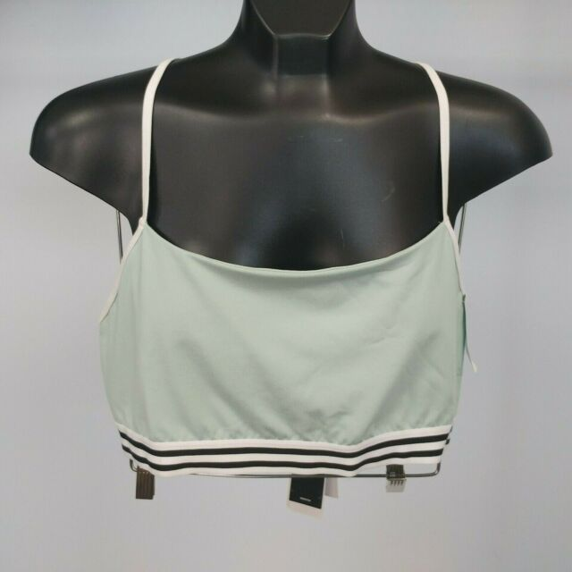 Adidas Crossback Sports Bra (Light Support) - Size XL, Ash Green