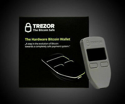 Trezor Hardware Wallet Bitcoin BCH Litecoin Ethereum ZCash Authentic Black