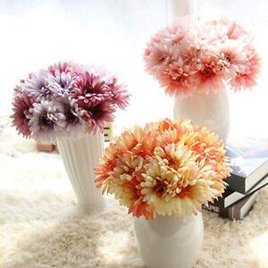 Kuenstlich-Gerbera-Gaensebluemchen-Blume-7-Stiele-Die-Seide-Gaensebluemchen-Blume-Hot