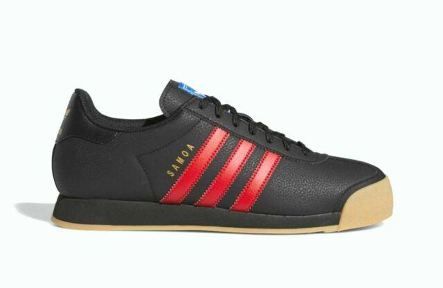 adidas Originals Samoa Men's Size 13 US Black Scarlet Gum Bottom Eg6086