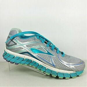 e04d382d8f56 Brooks GTS 16 Womens Teal Silver Gray Athletic Running Shoes Size 7D ...