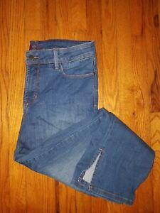 edac864a7458f NYDJ IRA Relaxed Ankle Crop Jeans Womens Cropped Size 10 Medium Blue ...