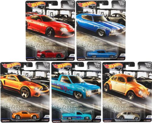 Cruise Boulevard Car Culture Set 5 Modellautos 1:64 Hot Wheels FPY86-956M