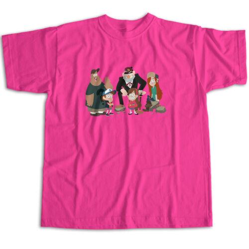 Gravity Falls Dipper Mabel Grunkle Stan Soos Mens Womens Kids Unisex Tee T-Shirt