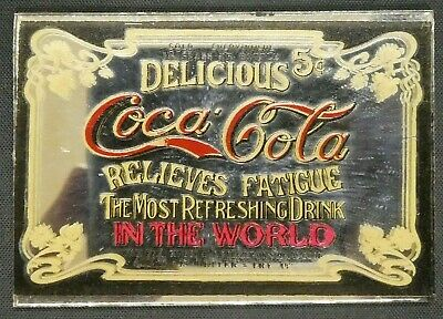 "Dollhouse Miniatures Mirror Sign Advertising 5c ICE CREAM 1 1//2/"" x 1 1//4/"""