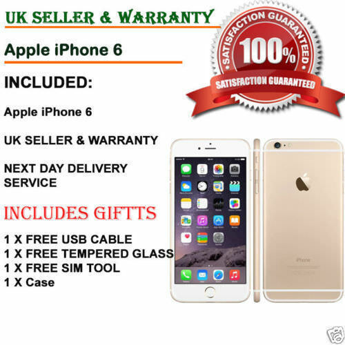 Apple iPhone 6 16GB 32GB 64GB 128GB All Colours EE Locked Smartphone