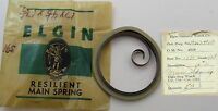 Elgin 16s Model 736 1765 Grade 469 Stop Watch Mainspring 1 Piece T End