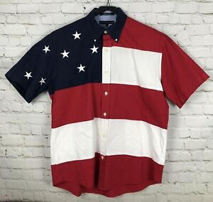 Vintage Tommy Hilfiger Flags Theme Button up